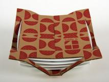 Embalagem de papelão para pratos