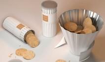 A embalagem de batata que se transforma em uma tigela