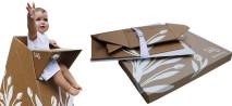 Designer cria cadeirão de bebê feito com papelão reciclado