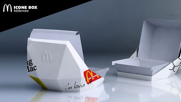 Designer francês cria redesign para embalagens de rede fast-food